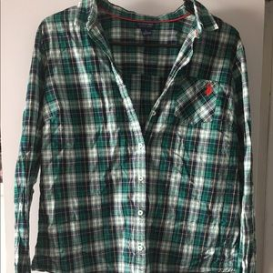 U. S. Polo plaid shirt